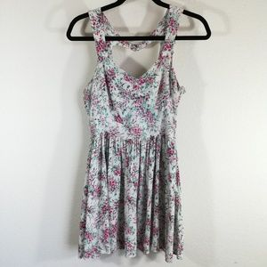 LC Lauren Conrad White and Pink Floral Dress